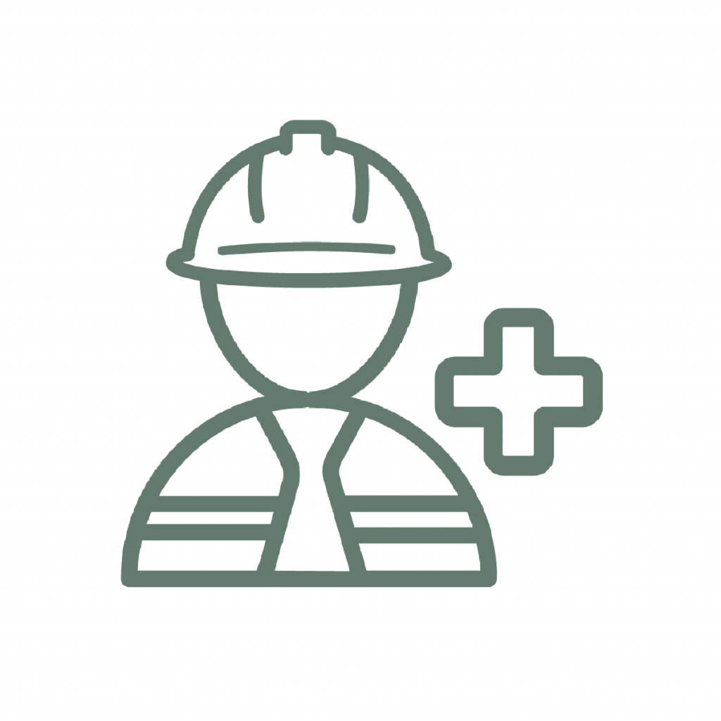 health and safety icon in the construction field